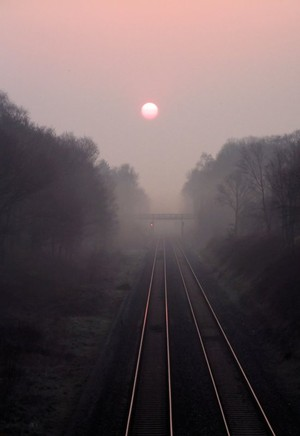 Dawn Mist on the Chiltern Line